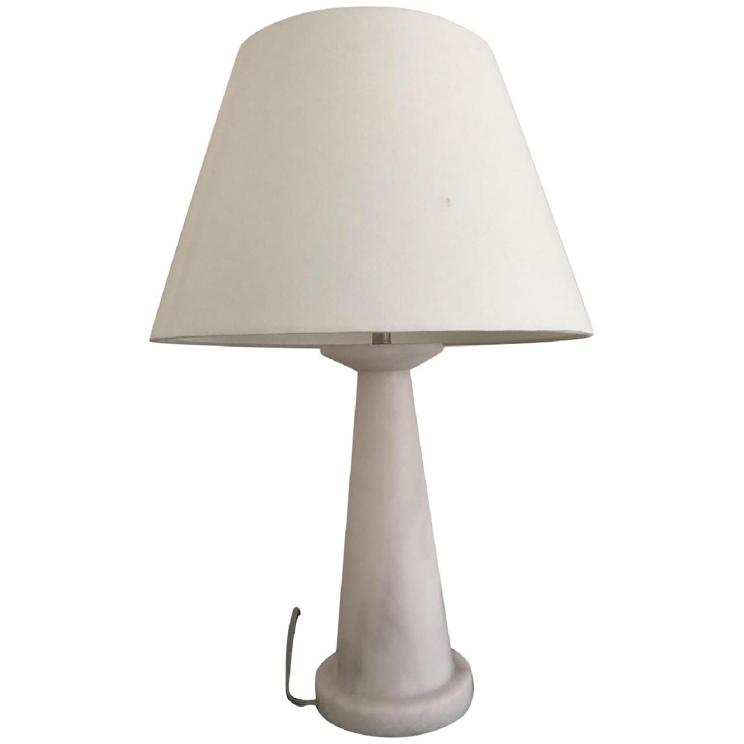Crate & Barrel Marble Table Lamps