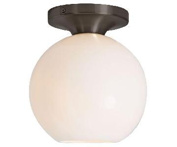 West Elm Sculptural Glass Globe Flushmount Fixtures