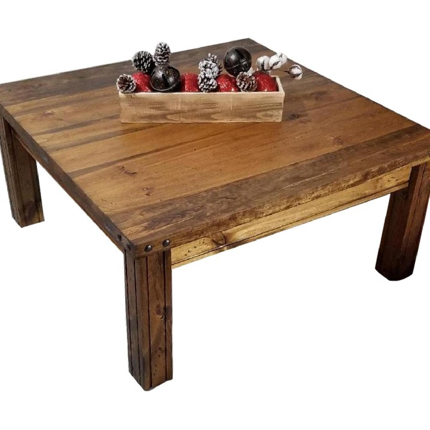 Wood Coffee Table + 2 Matching End Tables