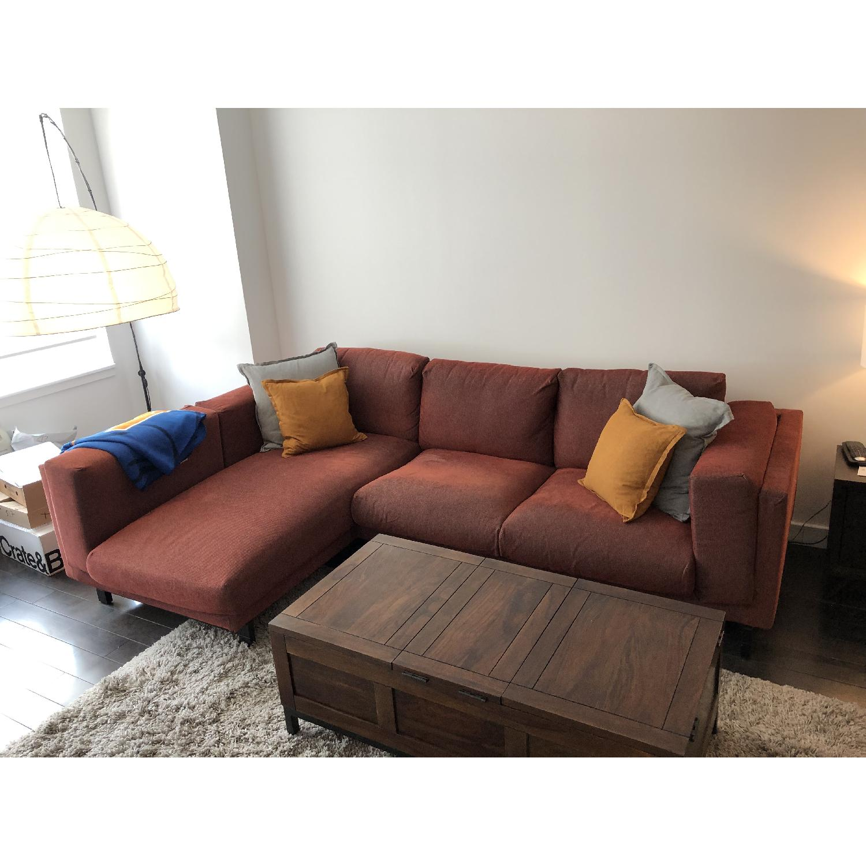 Ikea Nockeby Sectional Sofa W Left Chaise Aptdeco