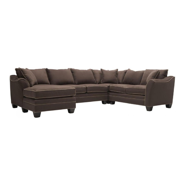 Raymour & Flanigan 4-Piece Microfiber Sectional Sofa