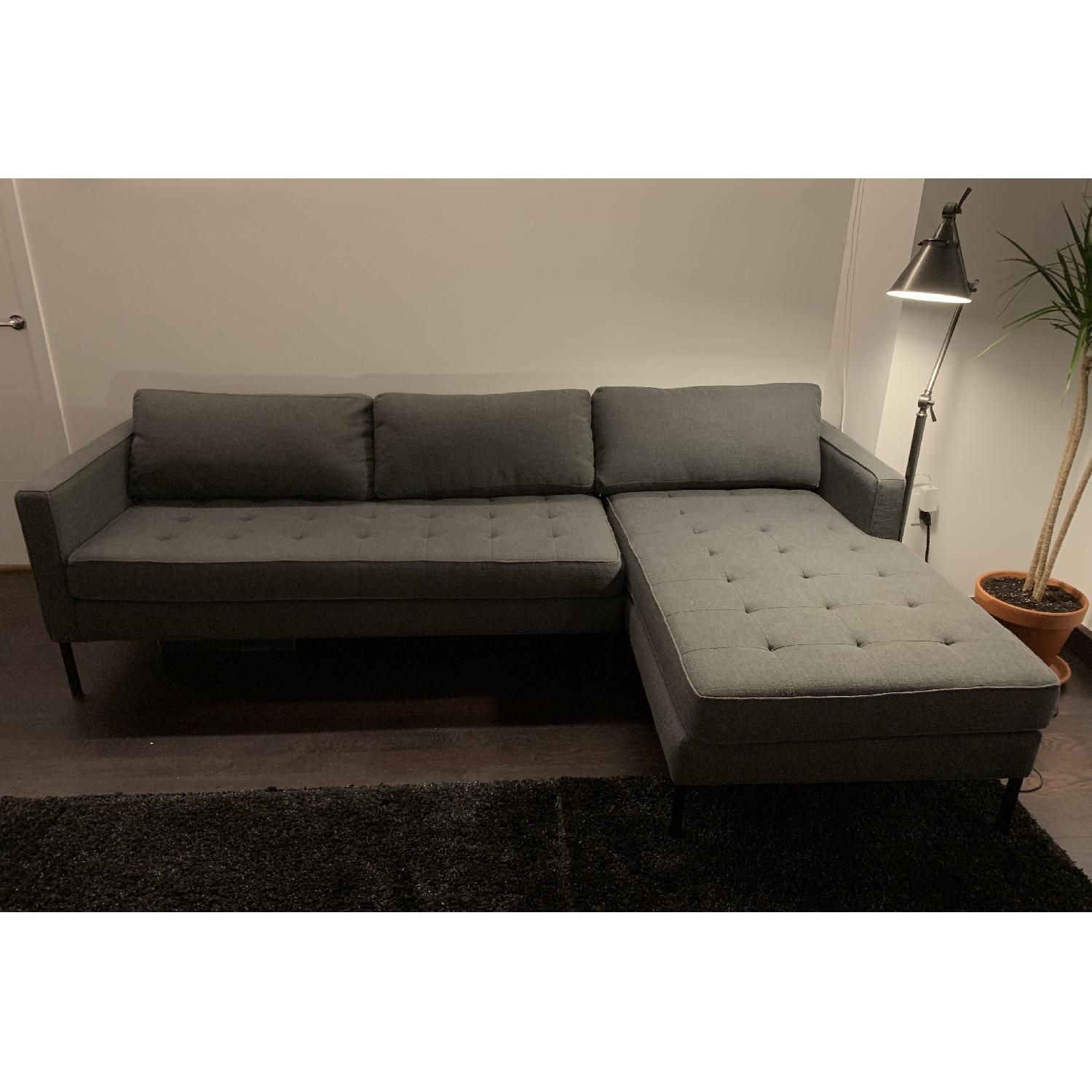 Blu Dot Paramount Sectional Sofa w/ Right Chaise