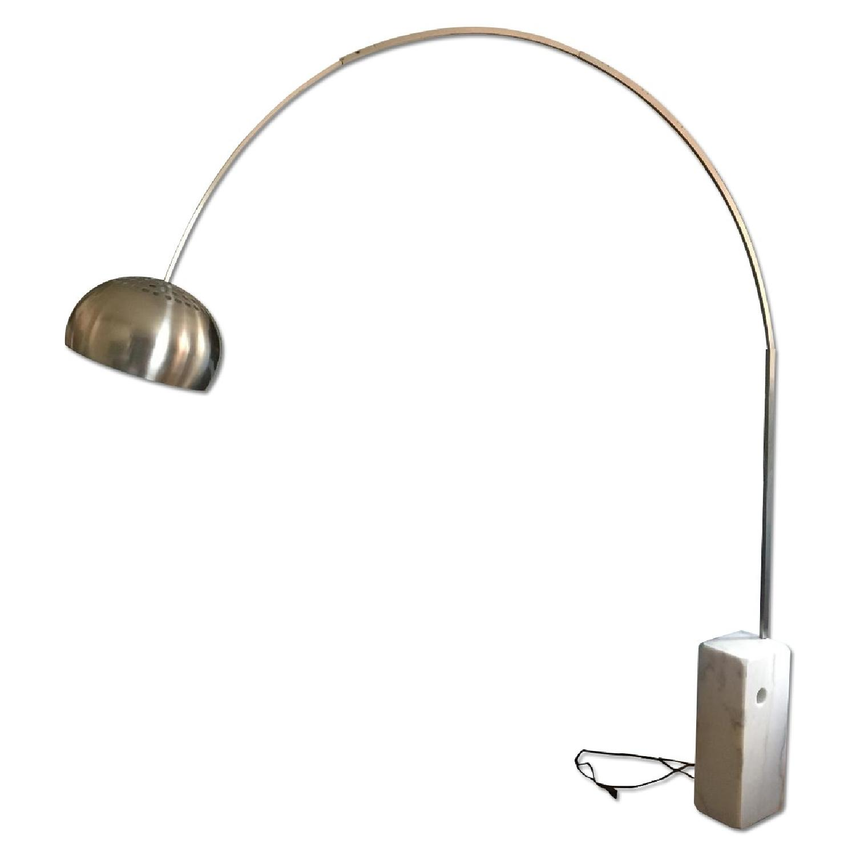arco marble base floor lamp aptdeco