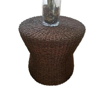 Crate & Barrel Wicker Accent Table