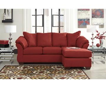 Ashley's Darcy Sectional Sofa in Salsa