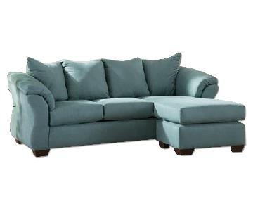 Ashley's Darcy Sectional Sofa in Sky Blue