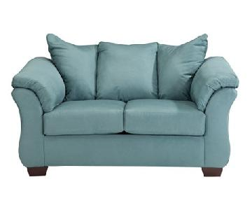 Ashley's Darcy Loveseat in Sky Blue
