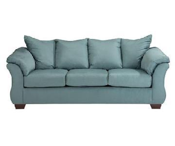 Ashley's Darcy Sofa in Sky Blue