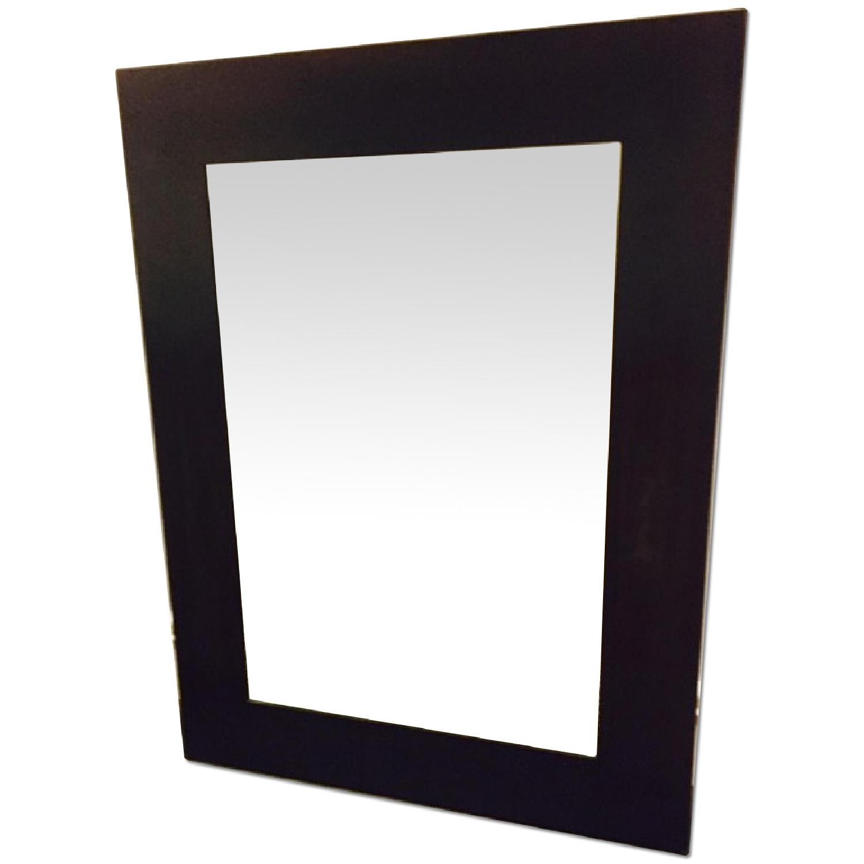 Pottery Barn Espresso Finish Metal Mirror - image-0