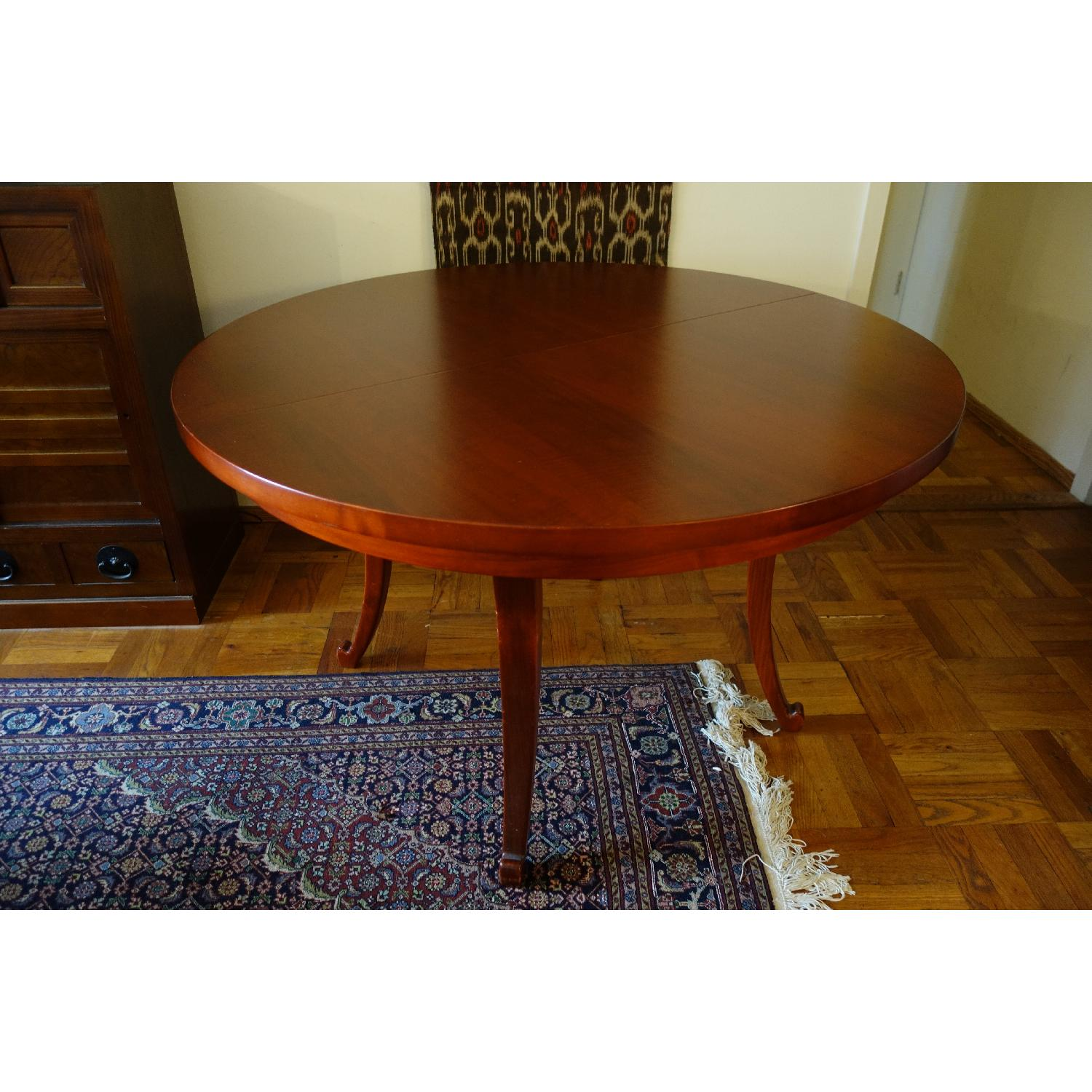 Dialogica Curl Oval Mahogany Dining Table - image-1