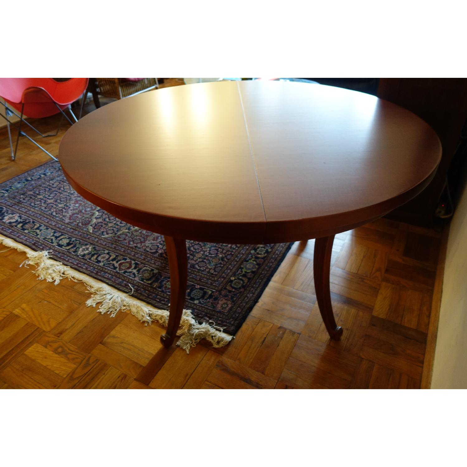 Dialogica Curl Oval Mahogany Dining Table - image-2