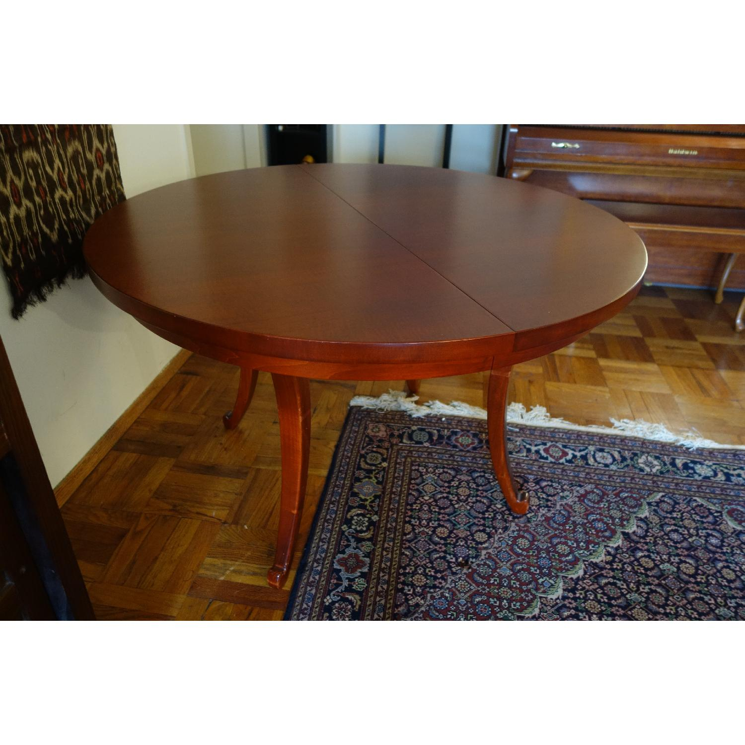 Dialogica Curl Oval Mahogany Dining Table - image-3