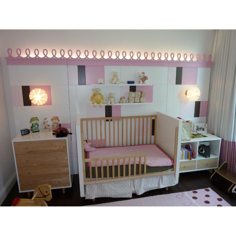 Room & Board Moda Crib & Toddler Bed Conversion Rail - image-1