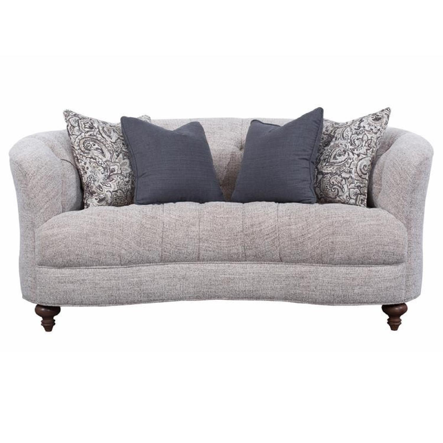 Magnussen Home Furnishings Rounded Loveseat