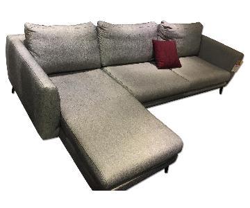 BoConcept Fargo Sofa in Black Melange Bari Fabric