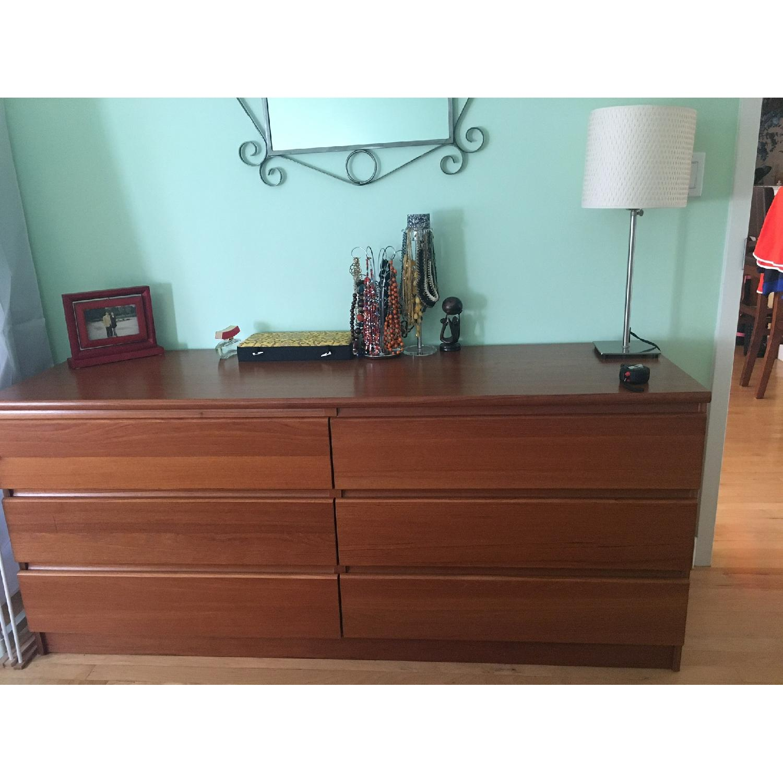 Teak 6-Drawer Dresser - image-1