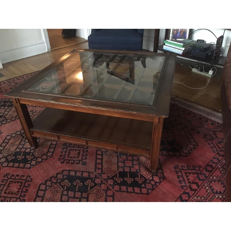 Vintage Dark Wood Coffee Table - image-4