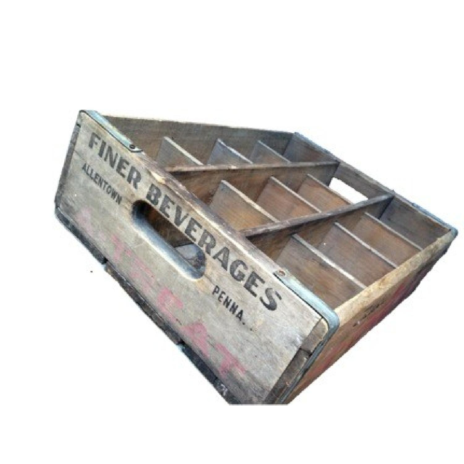 Vintage Wood Soda Crate Carring Case - image-1