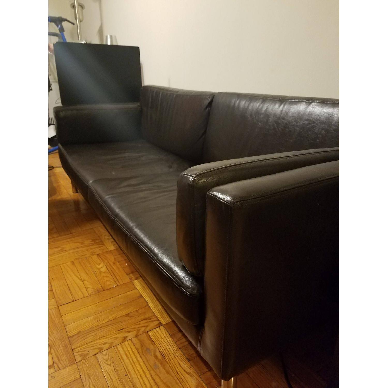 Ikea Black Leather Sofa - image-4