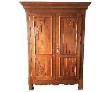 ABC Carpet and Home Solid Cherry Wood Armoire