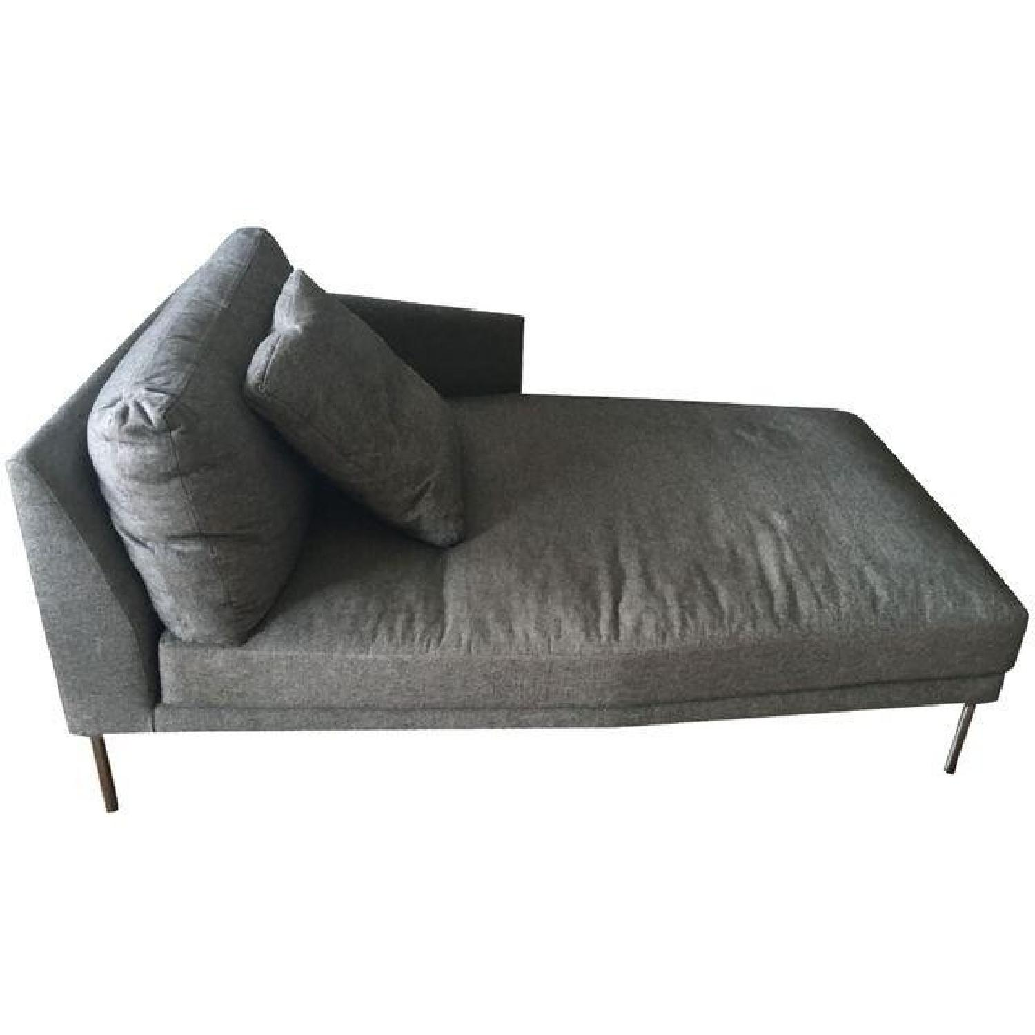 Design Within Reach Gray Camber Chaise - image-0