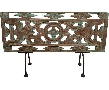 Asian Wood & Metal Decorative Art