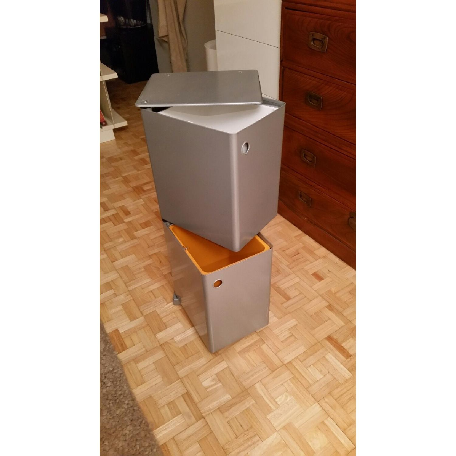 Container Store 2 Bin Recycling Tower - image-1