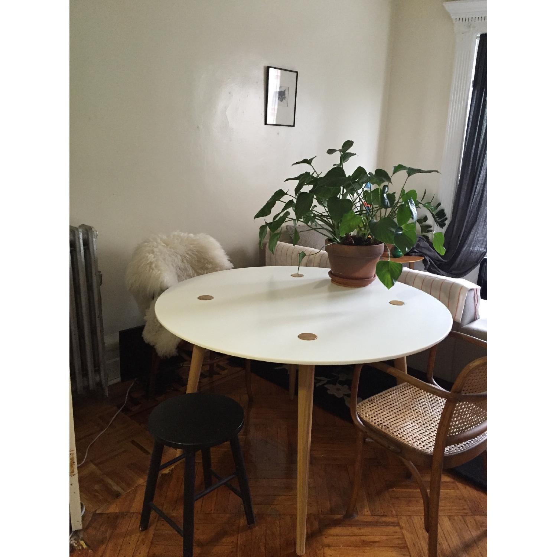 Ikea Trendig Oak & Laminate Round Table - image-3