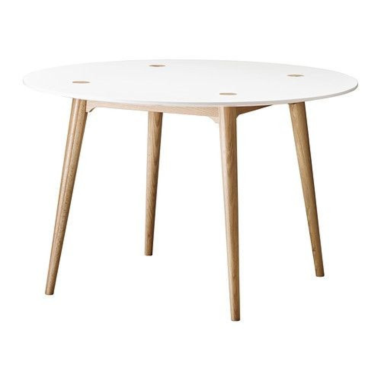 Ikea Trendig Oak & Laminate Round Table - image-4