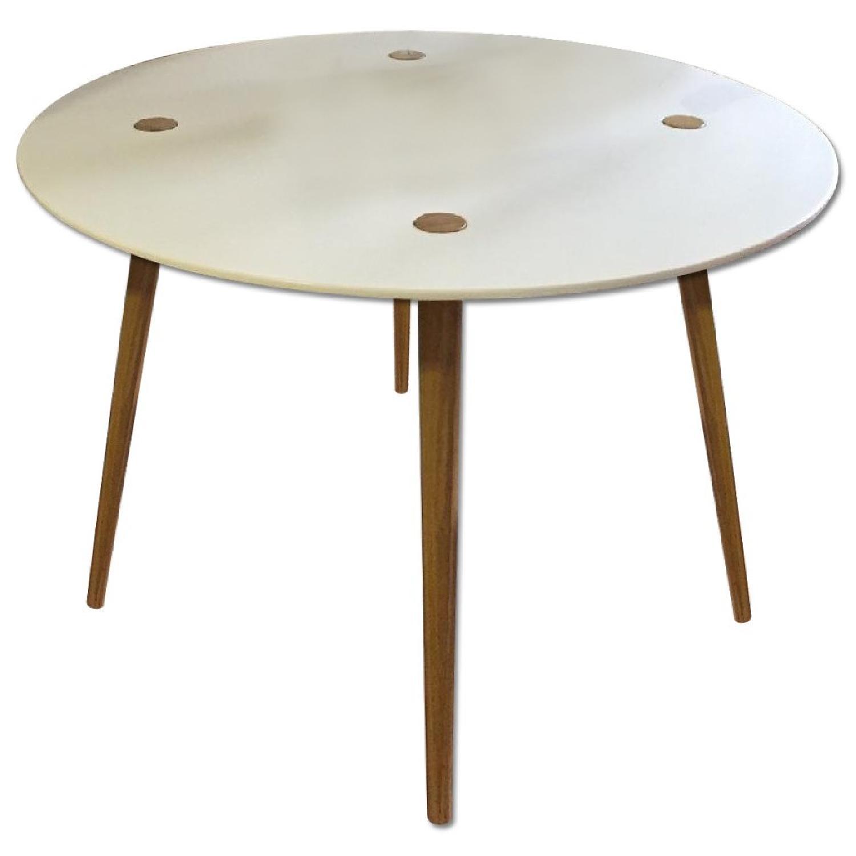 Ikea Trendig Oak & Laminate Round Table - image-0