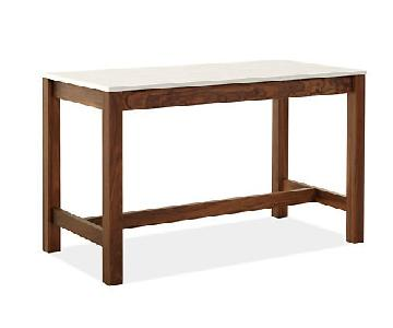 Room & Board Linden Counter Table w/ 4 Leather Stools