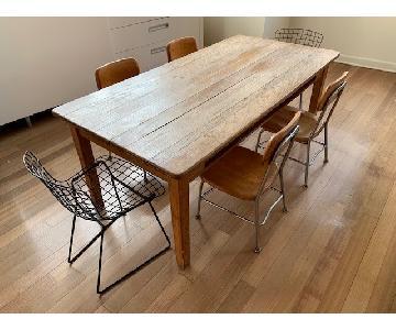 MCM Children's Desk Table w /4 Heywood Wakefield Chairs