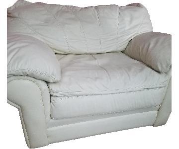De Novo White Armchair