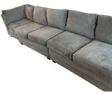 Crate & Barrel Lounge II 3 Piece Sectional Sofa