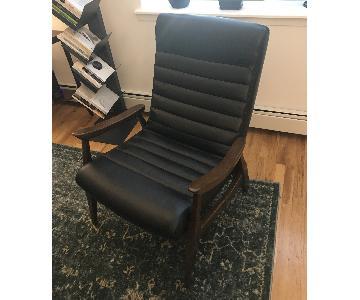 Hans Black Leather Armchair