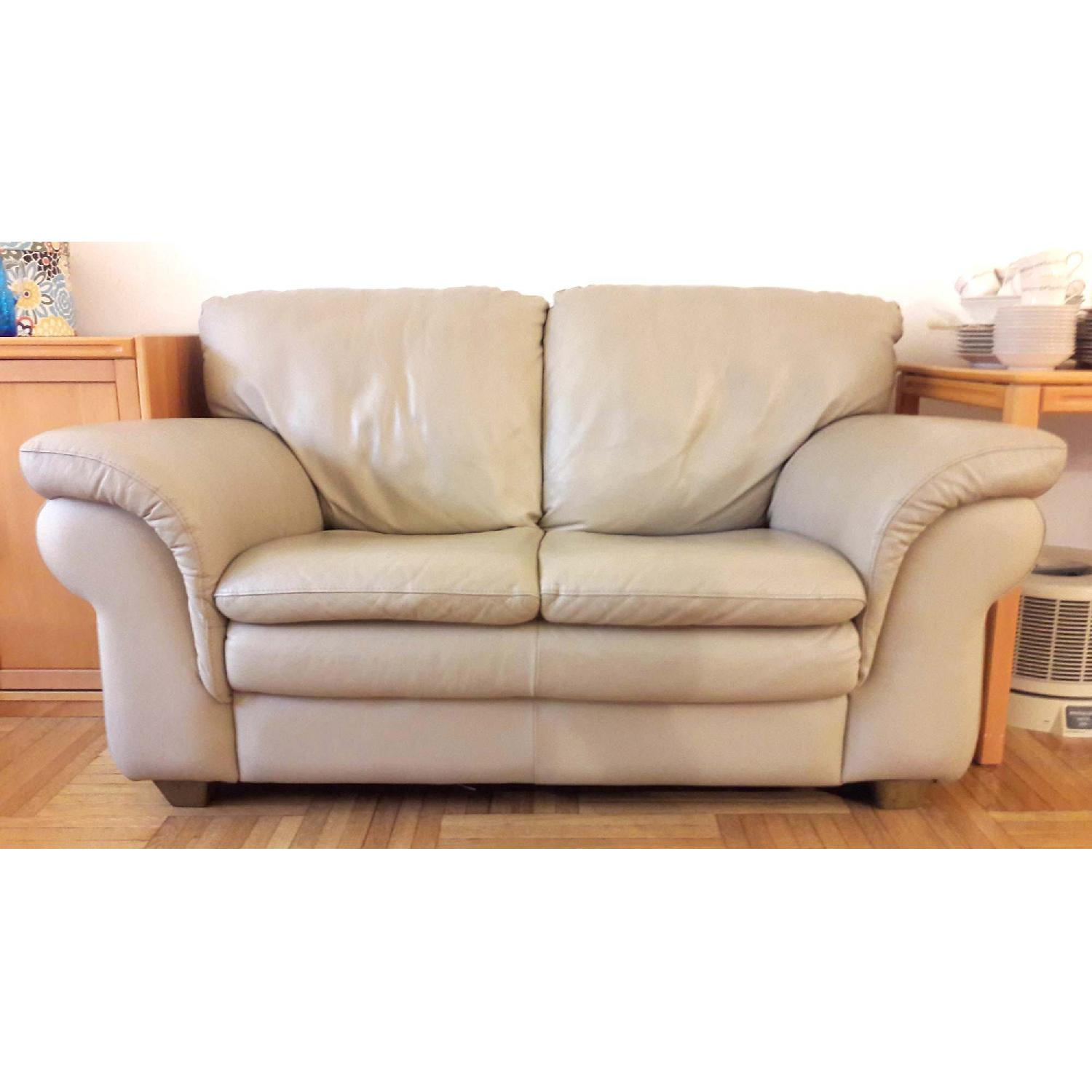 Macy S Leather Loveseat Aptdeco