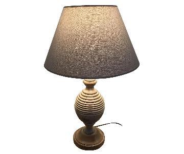 Baker Turned Wood Table Lamp