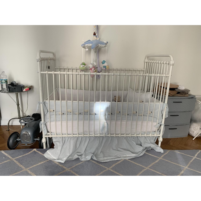 Restoration Hardware Kennedy Iron Crib In Distressed Aptdeco