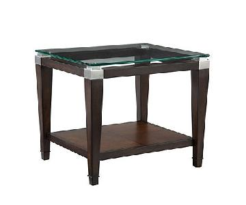 Raymour & Flanigan Dunhill Glass End Table