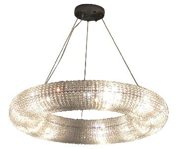 Restoration Hardware Crystal Halo Chandelier