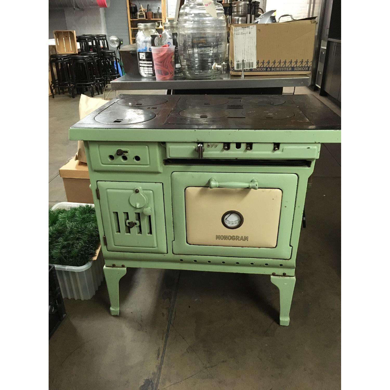 Antique Sea Green Oven Porcelain Sideboard-0
