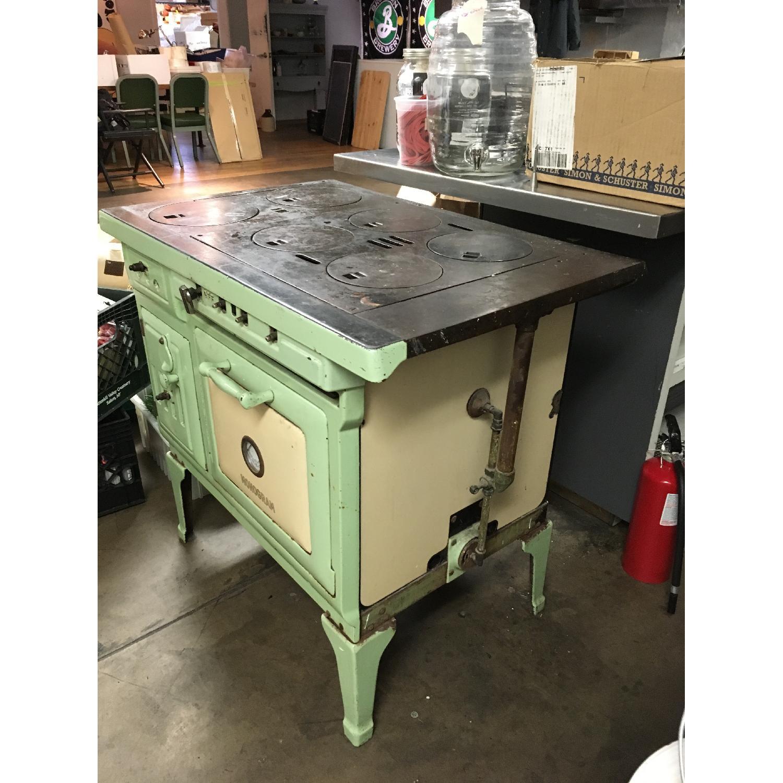 Antique Sea Green Oven Porcelain Sideboard-1
