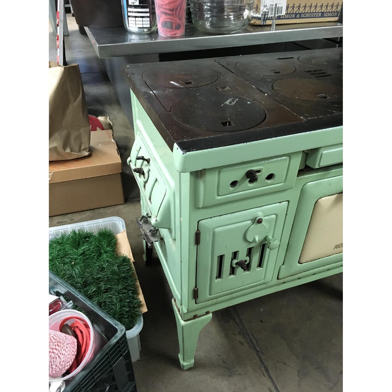 Antique Sea Green Oven Porcelain Sideboard-2