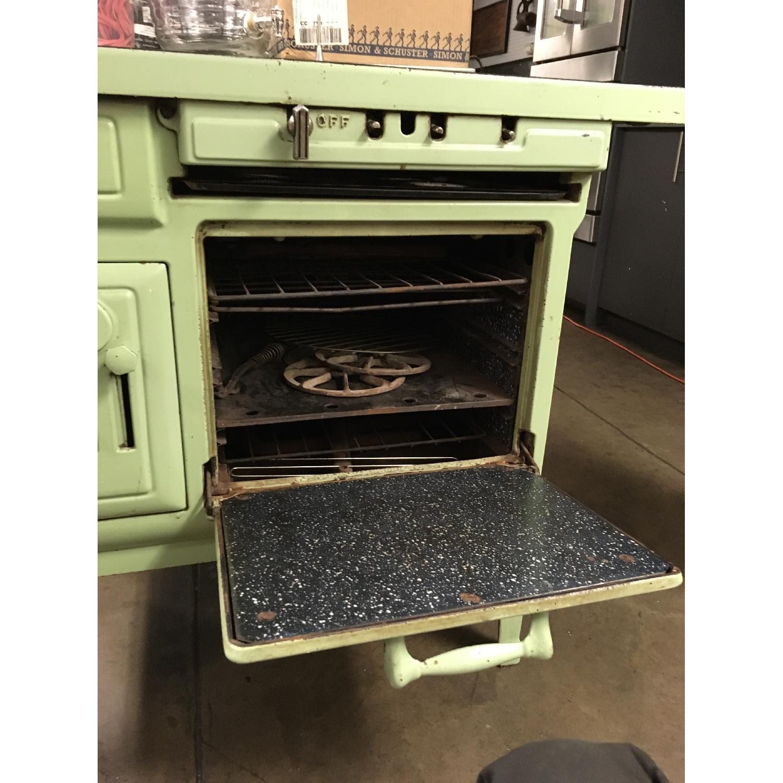 Antique Sea Green Oven Porcelain Sideboard-3