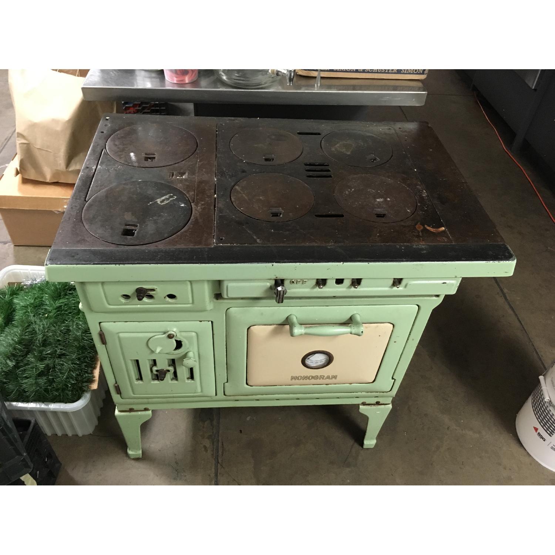 Antique Sea Green Oven Porcelain Sideboard-5