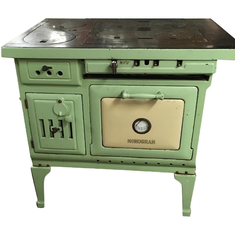 Antique Sea Green Oven Porcelain Sideboard