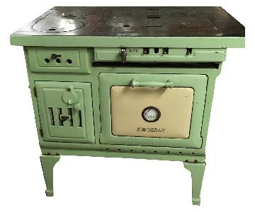 Antique Sea Green Oven Porcelain Sideboard