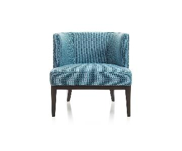 Crate & Barrel Grayson Blue Barrel Chair