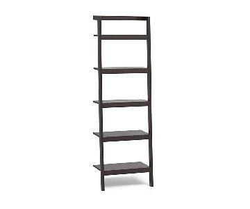 Crate & Barrel Sawyer Mocha Leaning Bookcases