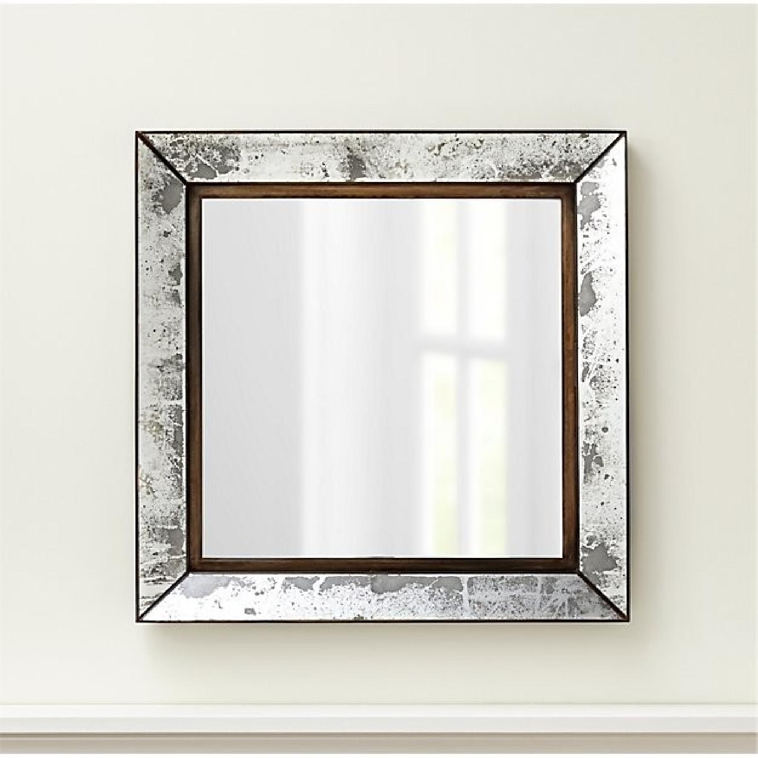 Crate & Barrel Dubois Large Square Wall Mirror-0